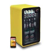 Produto Cervejeira Memo 100 litros Frost Free Amarela com Wi-fi