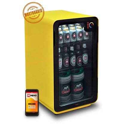 Cervejeira Memo 100 litros Frost Free Amarela com Wi-fi (MOSTRUÁRIO)