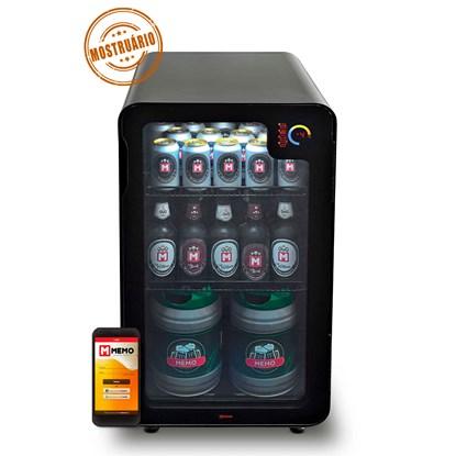 Cervejeira Memo 100 litros Frost Free Preta com Wi-fi (MOSTRUÁRIO)