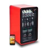 Produto Cervejeira Memo 100 litros Frost Free Vermelha com Wi-fi