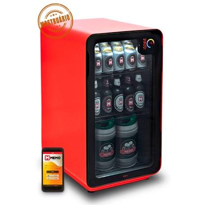Cervejeira Memo 100 litros Frost Free Vermelha com Wi-fi (MOSTRUÁRIO)